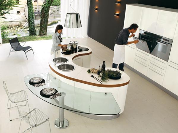 Дизайн совмещенной кухни.