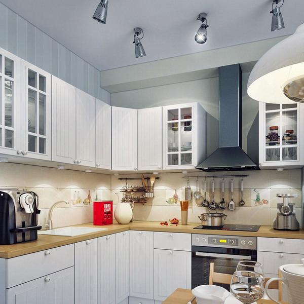Правильное освещение в кухне, 25 лучших советов и 85 ... Софиты Потолочные