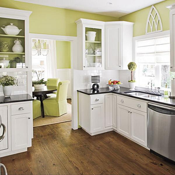 кухня Kitchen-white-plus-green3