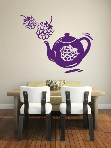 Рисунок на стене кухни фото