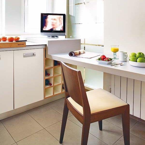 Компактные столики для маленькой кухни: 6 идей по выбору + 4.
