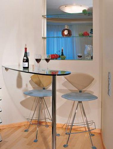 барная стойка для кухни стеклянная у окна Merino двухслойное