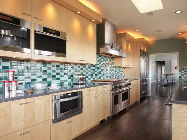 Subway tile floor kitchen