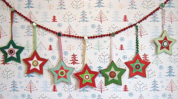 Новогодние украшение гирлянды своими руками