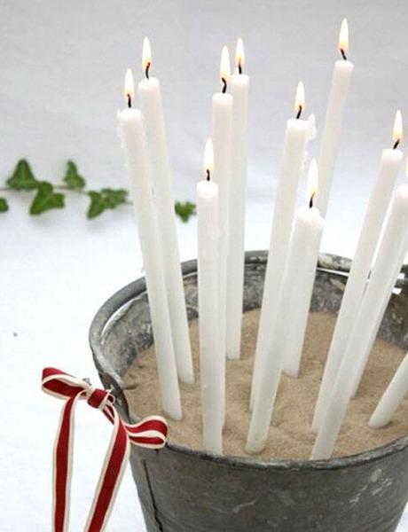 Как сделать длинную свечу