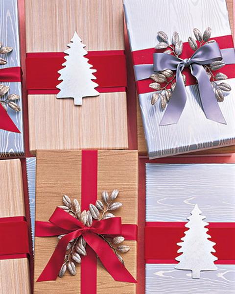 Украшение подарка в новый год