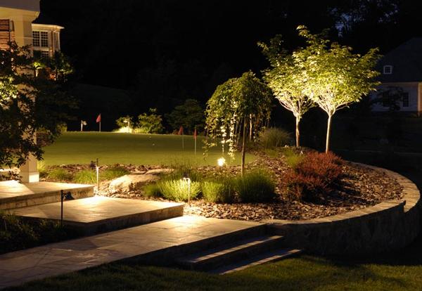 Дизайн освещения дачного участка