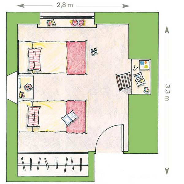 Как нарисовать план комнаты с мебелью онлайн