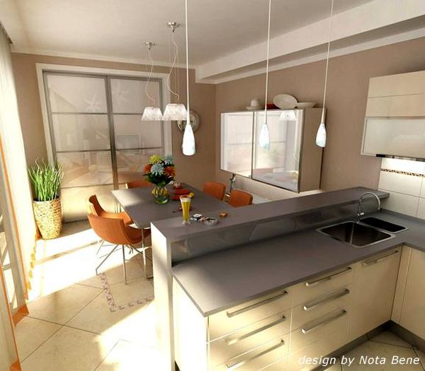 Кухня с барной стойкой совмещенная с гостиной фото дизайн.