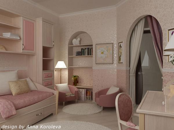 Описание: дизайн комнат для девушек фото.