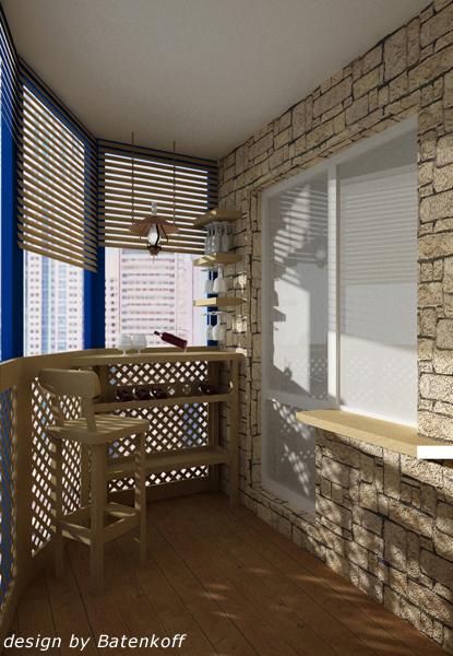 Дизайнерски проекти на балкони и тераси интериор, идеи за ин.