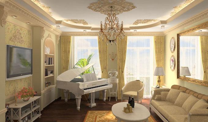 Интерьер квартиры в классическом стиле, спб