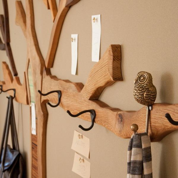 Как сделать вешалки из дерева 975
