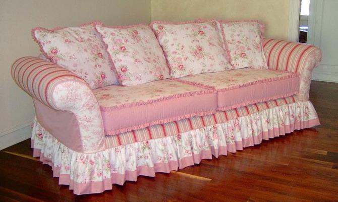 Из чего шьют покрывало на диван