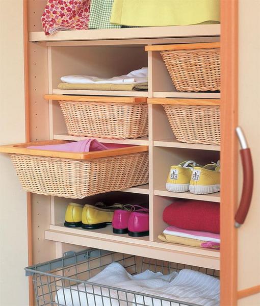 Корзины для хранения вещей в шкафу своими руками