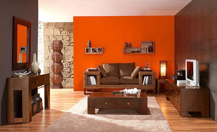 Коричневый бежевый и оранжевый в интерьере