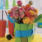 как составить весенний букет из тюльпанов.