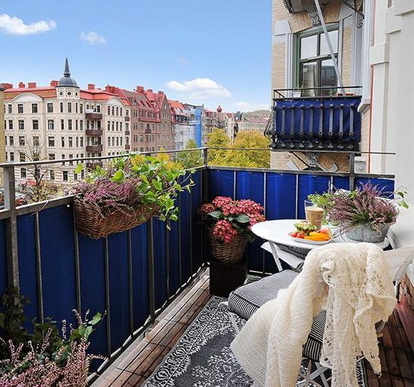 Как украсить балкон: шведский вариант - 25 новых идей в разн.