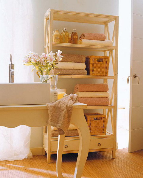 Полки для ванной комнаты из дерева своими руками