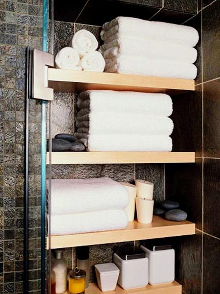 Полка под полотенца в ванную своими руками 160