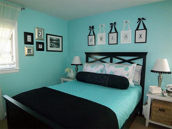 Бирюзовая спальня дизайн фото