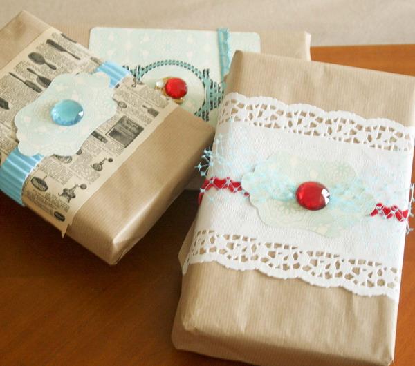 Винтажная упаковка подарков 87