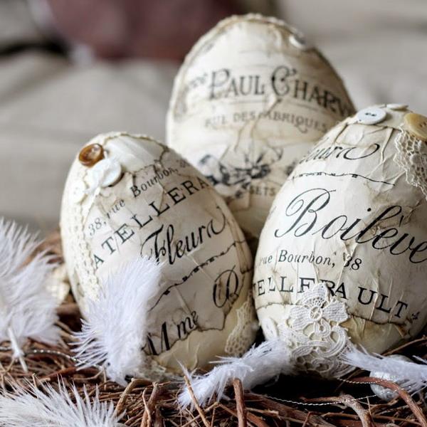 Винтажные украшения для пасхальных яиц: 70 фото идей для поклонников ретро и рукоделия 236