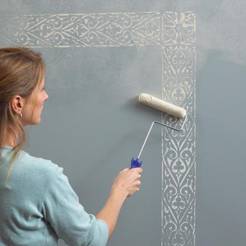 Трафаретный валик для покраски стен своими руками