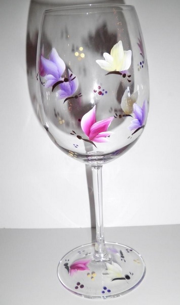 Painted wine glass designs quotes